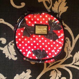 Betsey Johnson makeup cosmetics bag